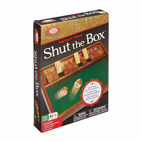 Ideal Shut The Box Tabletop Game 3-pc. Table Game