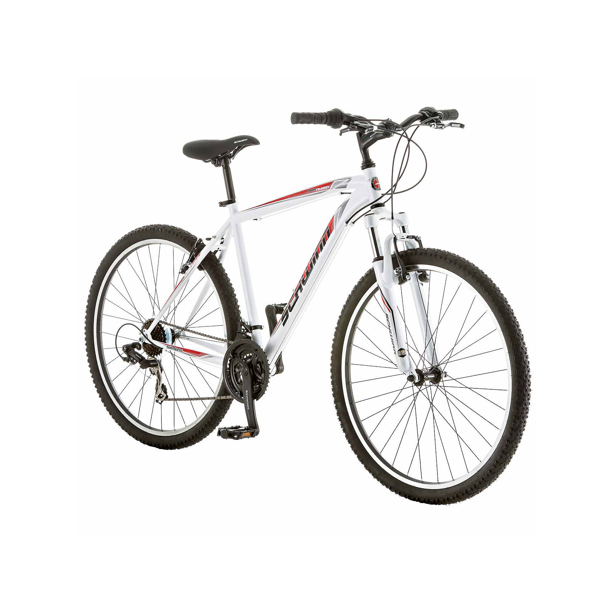 "Schwinn 27.5"""" Men's High Timber Front Suspension Bike, White -  S3029A"