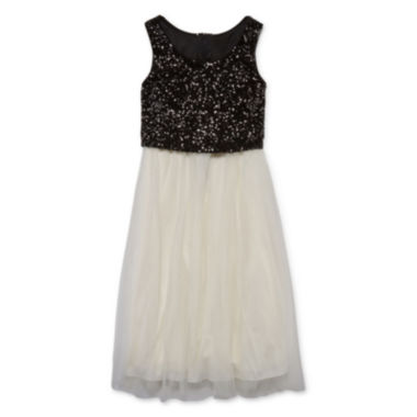 jcpenney.com | Emerald Gumdrops Sleeveless Sequin Ballerina Dress - Girls 7-16