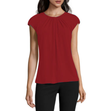 jcpenney.com | Worthington® Cap-Sleeve Twist-Front Top