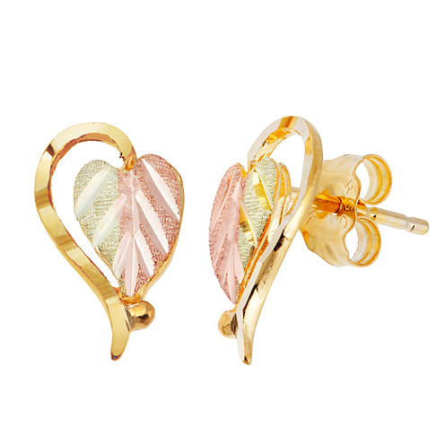 Landstroms Black Hills Gold 10K Gold Stud Earrings