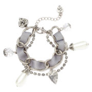Messages from the Heart® by Sandra Magsamen® Simulated Pearl and Heart Charm Bracelet