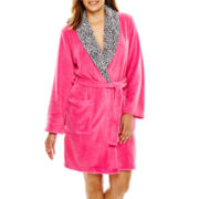 Comfort and Co. Long-Sleeve Short Fleece Robe