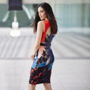 Bisou Bisou® Sleeveless Print Scuba Sheath Dress