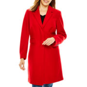 Liz Claiborne® Wool-Blend Walking Coat - Petite