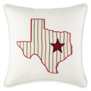 Home Expressions™ Texas Square Decorative Pillow
