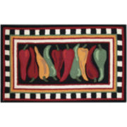 Nourison® Hot Peppers Hand-Hooked Rectangular Rug