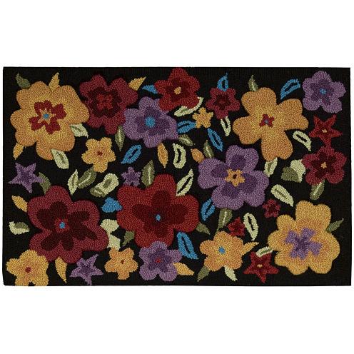 Nourison® Floral Burst Hand-Hooked Rectangular Rug