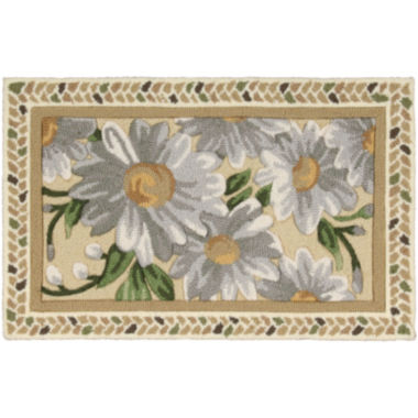 jcpenney.com | Nourison® Daisies Hand-Hooked Rectangular Rug