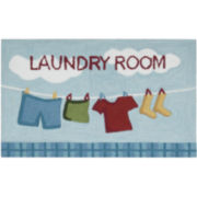 Nourison® Laundry Hand-Hooked Rectangular Rug