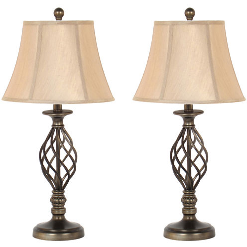 JCPenney Home™ Spiral Cage Table Lamp Set