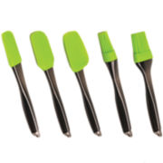 BergHOFF® Geminis 5-pc. Silicone Brush and Scraper Set