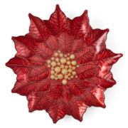 JCPenney Home™ Poinsettia Glass Platter