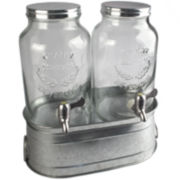 Artland Masonware Farmhouse Set of 2 Beverage Dispensers