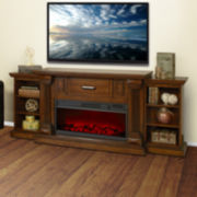 James Electric Fireplace with Bookshelves