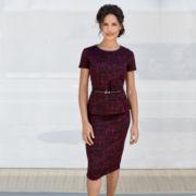 Liz Claiborne® Belted Peplum or Knit Textured Skirt