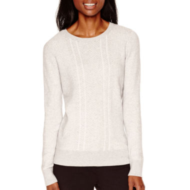 jcpenney.com | Liz Claiborne® Long-Sleeve Double-Knit Sweater