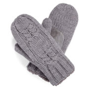 Isotoner® Cable-Knit Mittens