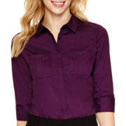 Worthington® 3/4-Sleeve Button-Down Shirt
