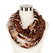 Python-Print Ruched Infinity Scarf