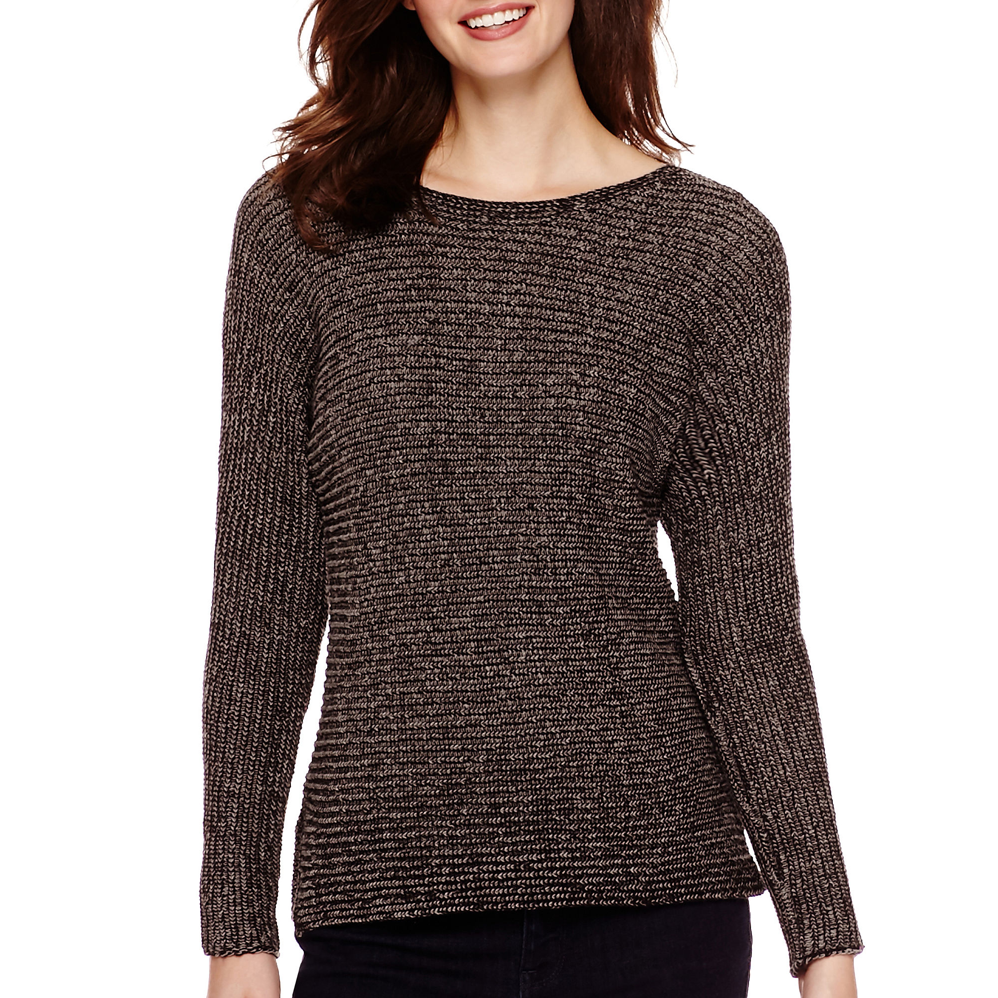 a N a Long Sleeve Textured Sweater | Clothing