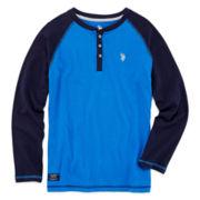 U.S. Polo Assn.® Long-Sleeve Thermal Henley - Boys 8-18