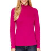 St. John's Bay® Long-Sleeve Mockneck T-Shirt