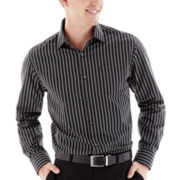 Claiborne® Long-Sleeve Easy-Care Striped Woven Shirt