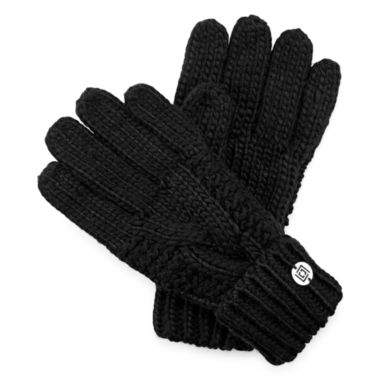 jcpenney.com | Liz Claiborne® Braided Cable Knit Gloves