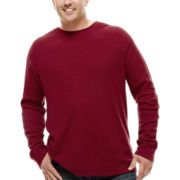 The Foundry Supply Co.™ Long-Sleeve Waffle Crewneck - Big & Tall