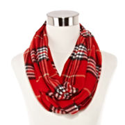 V. Fraas Plaid Infinity Scarf