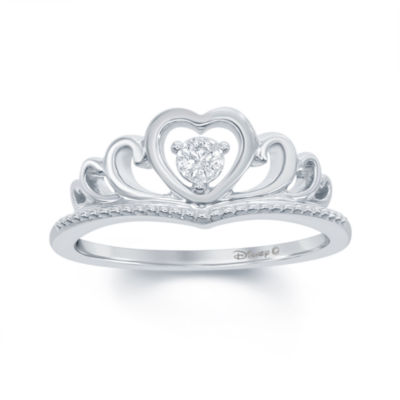 Sterling Silver Themed Ring Plated CZ Heart Ring