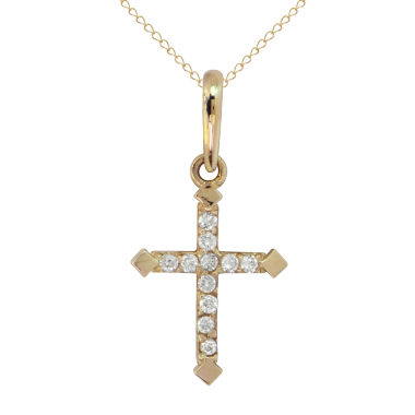 jcpenney.com | Womens White Cubic Zirconia 14K Gold Pendant Necklace