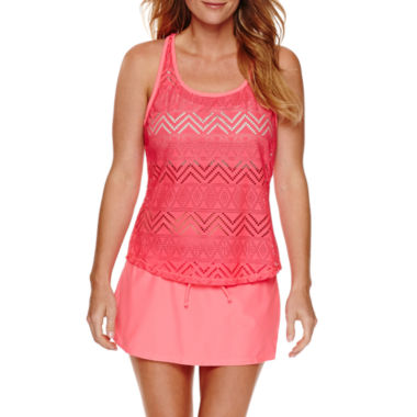 jcpenney.com | Splashletics 2 in 1 Tankini or Swim Skirtini