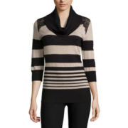 by&by Long Sleeve Cowl Neck Pullover Sweater-Juniors