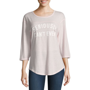 jcpenney.com | 3/4 Sleeve Graphic Tee- Juniors