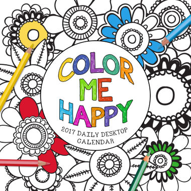 jcpenney.com | 2017 Color Me Happy Daily Desktop Calendar