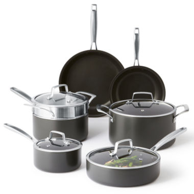 jcpenney.com | Cooks Signature Hard-Anodized 11-pc. Cookware Set