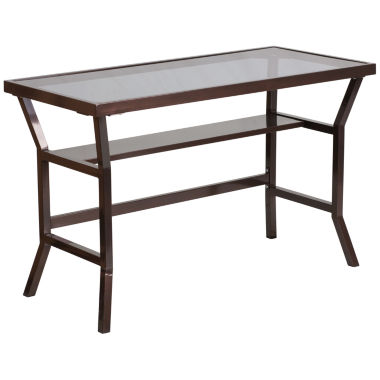 jcpenney.com | Dark Gray Tempered Glass Desk