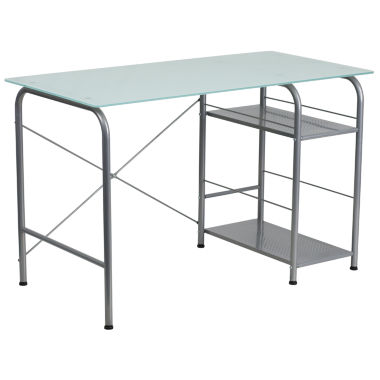 jcpenney.com | Open Storage Glass Desk