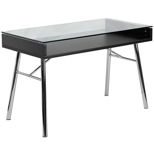 Brettford Tempered Glass Top Desk
