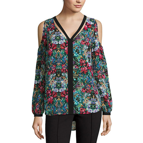 Nicole By Nicole Miller Cut Out Cold Shoulder Top