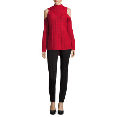 jcpenney.com | Nicole by Nicole Miller Long Sleeve Cold Shoulder Sweater or Ankle Pants