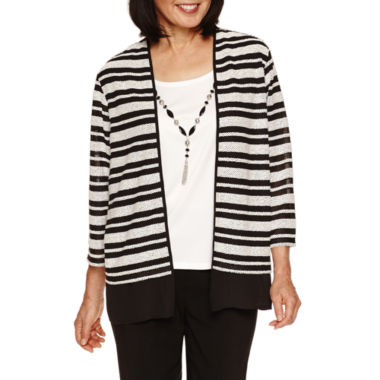 jcpenney.com | Alfred Dunner Wrap It Up 3/4 Sleeve Crew Layered Top