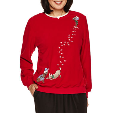jcpenney.com | Alfred Dunner Long Sleeve Brushed Fleece Top