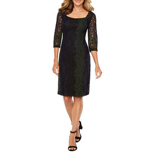 Melrose Long Sleeve Sheath Dress