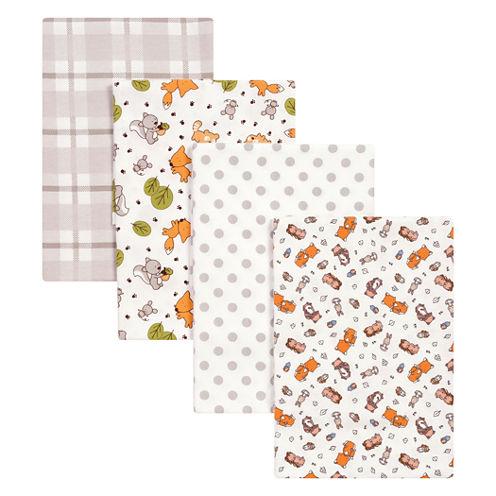Trend Lab Wild Bunch Flannel 4-pc. Receiving Blanket