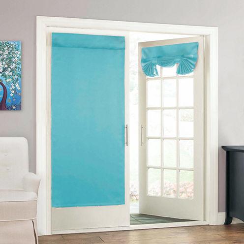 Eclipse Tricia Door Panel Rod-Pocket Door Panel Curtain