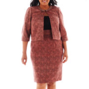 Dana Kay Tweed Dress with Jacket - Plus
