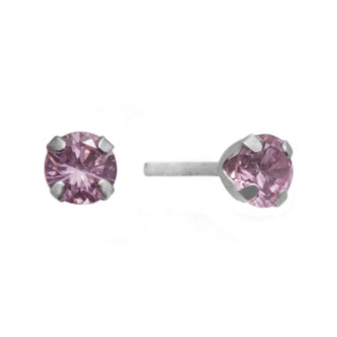 jcpenney.com | 1/2 CT. T.W. Color-Enhanced Pink Diamond Stud Earrings